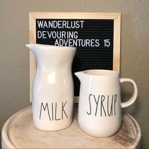 Rae Dunn Milk Syrup Pitcher Bundle